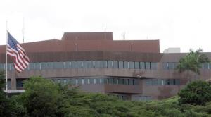 A view of the US Embassy in Caracas.