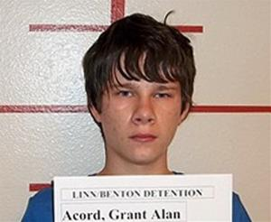 This May 24, 2013 photo provided by Benton County District Attorney's Office shows Grant Alan Acord.