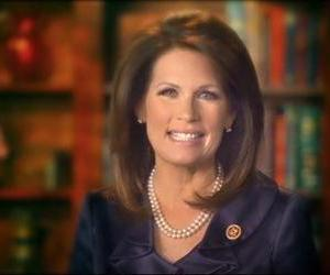 This image taken from michelebachmann.com, shows Congresswoman Michele Bachmann making a video announcement on her website.
