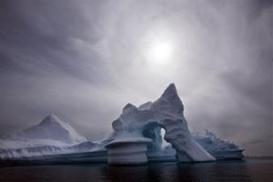 An iceberg melts off Ammassalik Island in Eastern Greenland in this 2007 file photo.