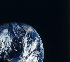 This December 1968 photo provided by NASA shows Earth as seen during the Apollo 8 mission.