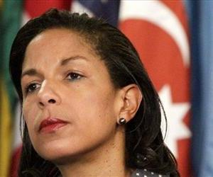 US Ambassador to the UN Susan Rice listening during a news conference in this June 7, 2012 file photo.