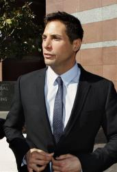 Joe Francis, the founder of the Girls Gone Wild video empire, smiles as he leaves the Edward R. Roybal Center and Federal Building court on Wednesday, Sept. 23, 2009 in Los Angeles.