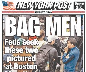 The infamous New York Post cover that misidentified the Boston bombers.
