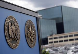 A sign stands outside the National Security Administration (NSA) campus in Fort Meade, Md., Thursday, June 6, 2013.
