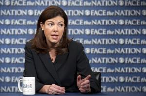 Sen. Kelly Ayotte talks on CBS's Face the Nation in Washington. Ayotte said she will back the bipartisan overhaul of the nation's immigration system, which she said is broken and needs to be fixed.