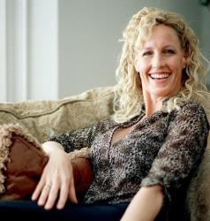 Environmental activist Erin Brockovich sits in her home in Agoura Hills, Calif.
