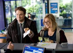This image released by Paramount Pictures shows Seth Rogen, left, and Barbra Streisand in a scene from The Guilt Trip.