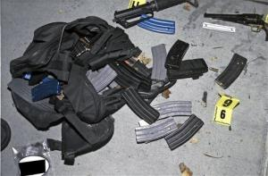 An evidence photo showing a bag and cartridge magazines is among several new evidence photos of the June 9 shooting rampage.