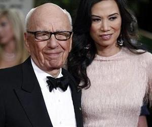 In this Sunday, Jan. 15, 2012, file photo, Rupert Murdoch and his wife Wendi arrive at the 69th Annual Golden Globe Awards in Los Angeles.