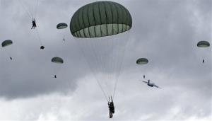 The 25th Infantry Division on a mass tactical airborne training event.