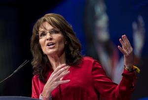 Sarah Palin delivers the keynote address to activists from America's political right at the Conservative Political Action Conference in Washington.