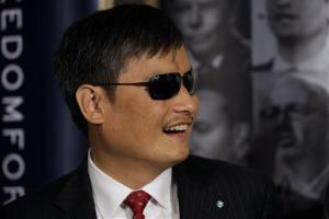 Chinese human rights activist Chen Guangcheng at the start of the Oslo Freedom Forum last month.