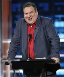 Actor Jeff Garlin roasts actor Bob Saget at the Comedy Central Roast of Bob Saget in Burbank, Calif. on Sunday, Aug. 3, 2008.