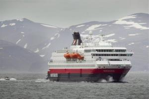 The Hurtigruten ship Nordnorge. Live televised coverage of a midsummer cruise along Norway's picturesque coast of fjords and islands has become the most watched TV show in the Nordic country.