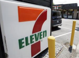 A 7-Eleven sign.