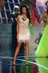 Miss Utah Marissa Powell walks the runway of the Miss USA 2013 pageant in Vegas.