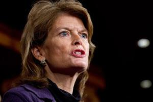 Sen. Lisa Murkowski, R-Alaska, speaks during a news conference about the Keystone XL oil pipeline on Capitol Hill in Washington on Wednesday, Jan. 23, 2013.