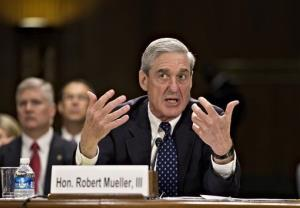 FBI Director Robert Mueller testifies on Capitol Hill.