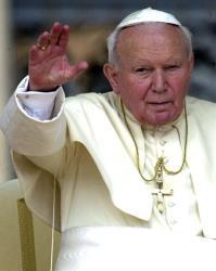 Pope John Paul II in 2001.
