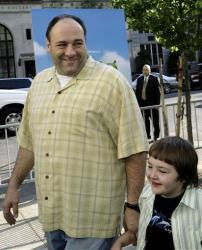 James Gandolfini accompanies his son Michael  to the special screening of the Dreamworks animation movie Shrek the Third in New York, Monday, May, 14, 2007.