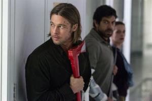 This publicity image released by Paramount Pictures shows Brad Pitt in a scene from World War Z.