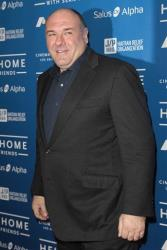 Actor James Gandolfini arrives at the Cinema for Peace benefit for the J/P Haitian Relief Organization in Beverly Hills, Calif., Saturday, Jan. 14, 2012.