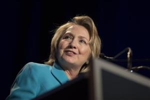 Former Secretary of State Hillary Rodham Clinton addresses the Clinton Global Initiative meeting in Chicago on June 13.