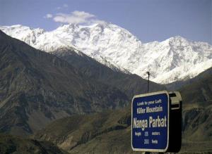 In this May 4, 2004, file photo, Nanga Parbat, the ninth highest mountain in the world. Gunmen killed foreign tourists and one Pakistani before dawn Sunday, June 23, 2013.