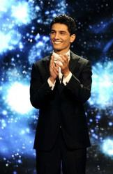 Singer Mohammed Assaf is seen on the Arab Idol stage in Beirut, Lebanon.