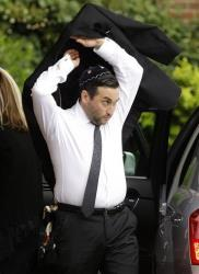 British singer Amy Winehouse's brother Alex arrives at Golders Green Crematorium, north London, Tuesday, July 26, 2011.