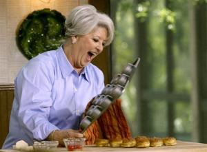 This 2006 file photo originally released by the Food Network shows celebrity chef Paula Dean.