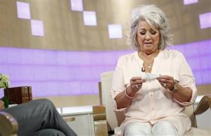 In this publicity image released by NBC, celebrity chef Paula Deen appears on NBC News' Today show, wednesday, June 26, 2013 in New York. Deen dissolved into tears during a Today show interview Wednesday about her admission that she used a racial slur in the past.  The celebrity chef, who...