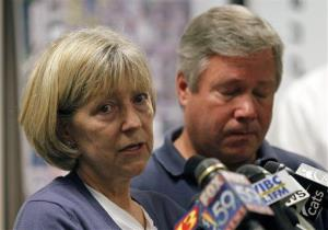 Robert and Charlene Spierer talk about their missing daughter, Lauren Spierer, during a news conference in Bloomington, Ind., Friday, July 1, 2011.