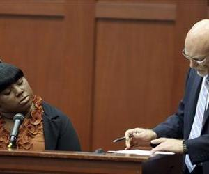Witness Rachel Jeantel, left, continues her testimony to defense attorney Don West on day 14 of George Zimmerman's trial in Seminole circuit court in Sanford, Fla. Thursday, June 27, 2013.