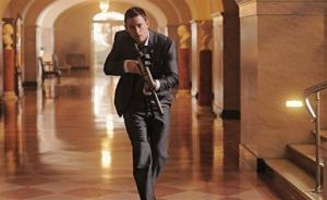 This film publicity image released by Columbia Pictures shows Channing Tatum in a scene from White House Down.
