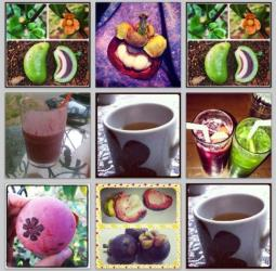 Some of the tropical fruit photos spamming Instagram today.