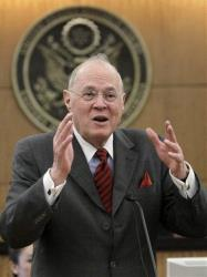 Supreme Court Justice Anthony Kennedy, addresses area high school students in Sacramento, Calif., Wednesday, March 6, 2013.