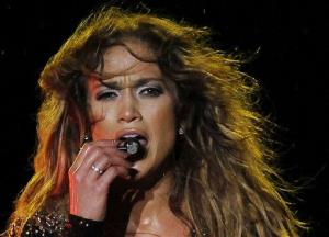 Jennifer Lopez performs during a concert in Kuala Lumpur, Malaysia.