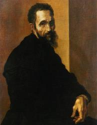 A portrait of Michelangelo.