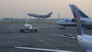 Planes at Sheremetyevo airport in Moscow.