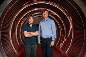 Zynga's new CEO Don Mattrick, right, with Zynga's founding CEO Mark Pincus.