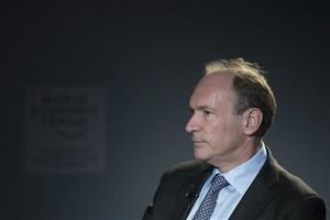 Tim Berners-Lee, inventor of the World Wide Web, attends a meeting of the World Economic Forum, in Switzerland, Friday, Jan. 25, 2013.