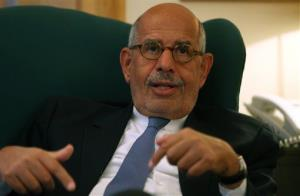 Egypt's leading opposition leader, Mohamed ElBaradei, in a file photo.