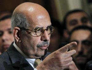 In this Monday, Jan. 28, 2013 file photo, Mohamed ElBaradei speaks during a news conference following the meeting of the National Salvation Front, Egypt's main opposition coalition, in Cairo.