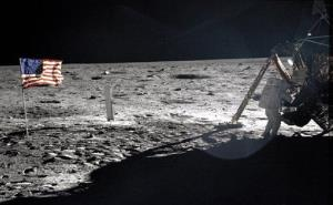 This July 20, 1969, photo provided by NASA shows Neil Armstrong on the moon.