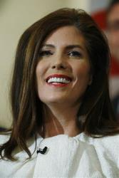 Pennsylvania Attorney General Kathleen Kane smiles during the singing of America, the Beautiful after she took her oath of office at the state Capitol, Tuesday, Jan. 15, 2013, in Harrisburg, Pa.