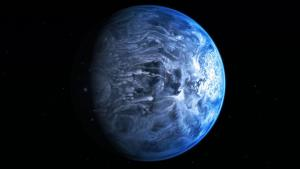 An illustration of what the planet probably looks like.