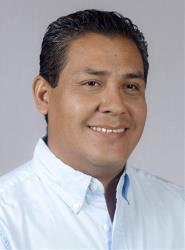 Lenin Carballido poses for a portrait during his campaign in Oaxaca, Mexico.