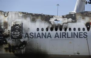 The wreckage of Asiana Flight 214.